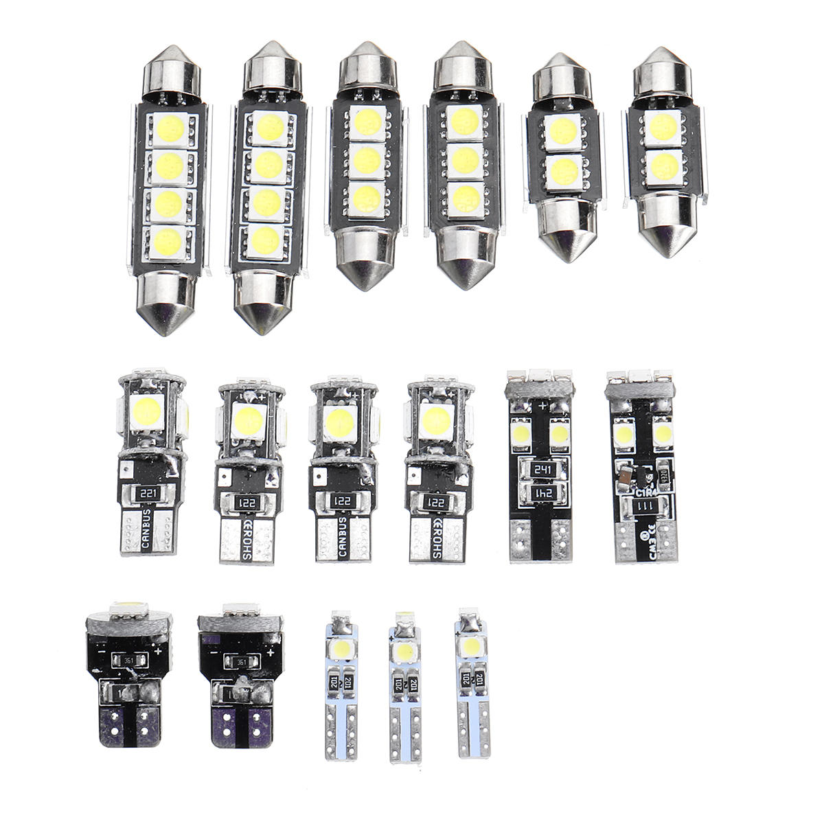 T10 T5 White Car Interior Led Lamp Replacement Bulb Reading Dome Lights For Bmw E90 E91 E92 3