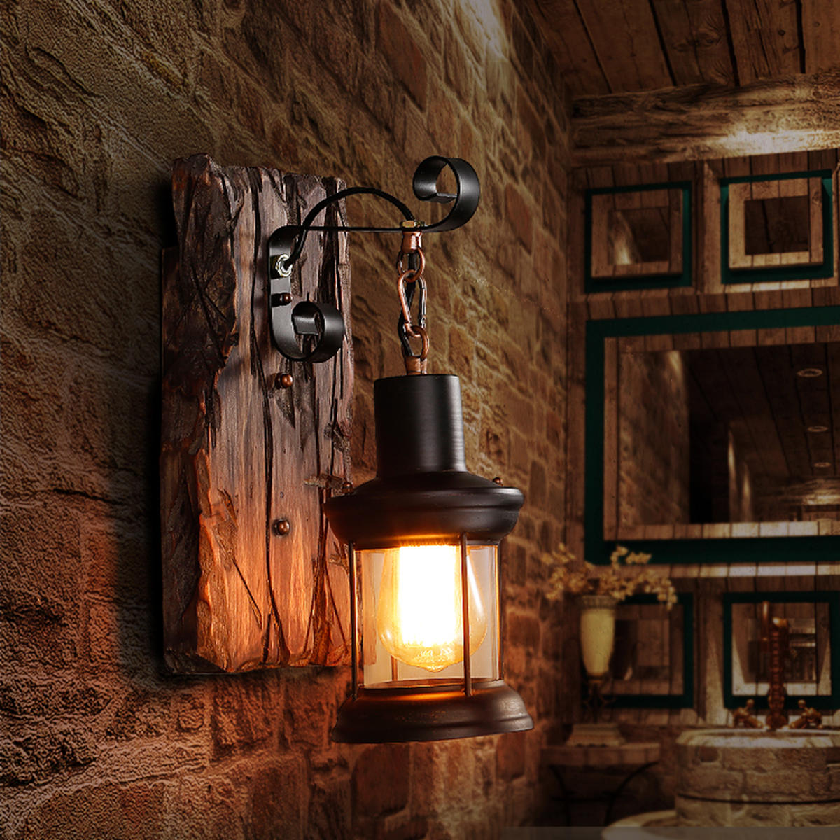 e27 vintage industrial metal sconce wall lamp fixture ... on Wall Sconce Lighting Decor id=92794