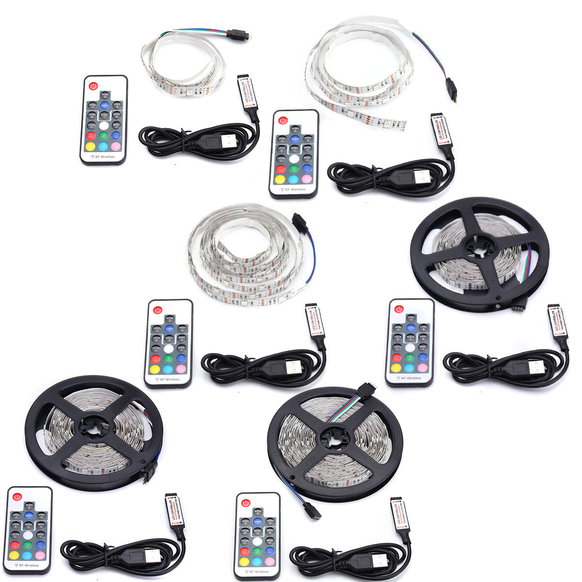 Dc5v Non Waterproof Usb Rgb Led Strip Tv Backlight