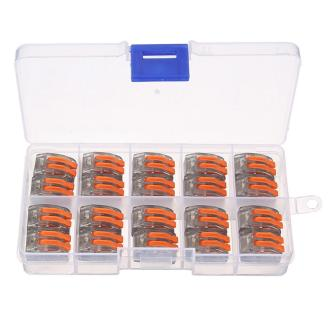 Excellway ET15 20Pcs 2 Pin Spring Terminal Block Electric Cable Wire Connector