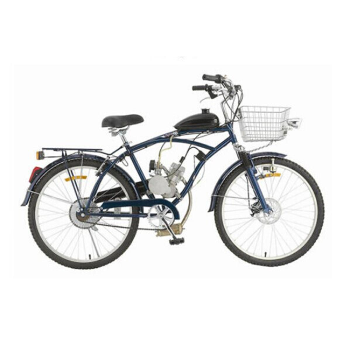 50cc 2 Stroke Cycle Motorized Bike Silver Body Engine