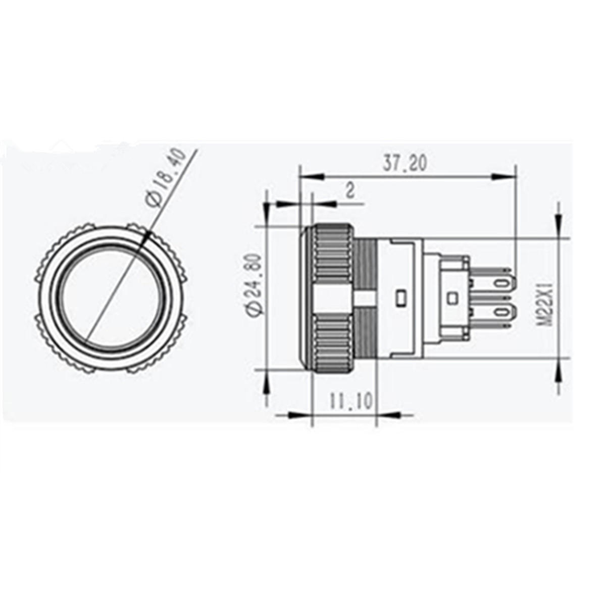 12v 5 Pin Led Push Button Switch Plastic Lamp Car Horn
