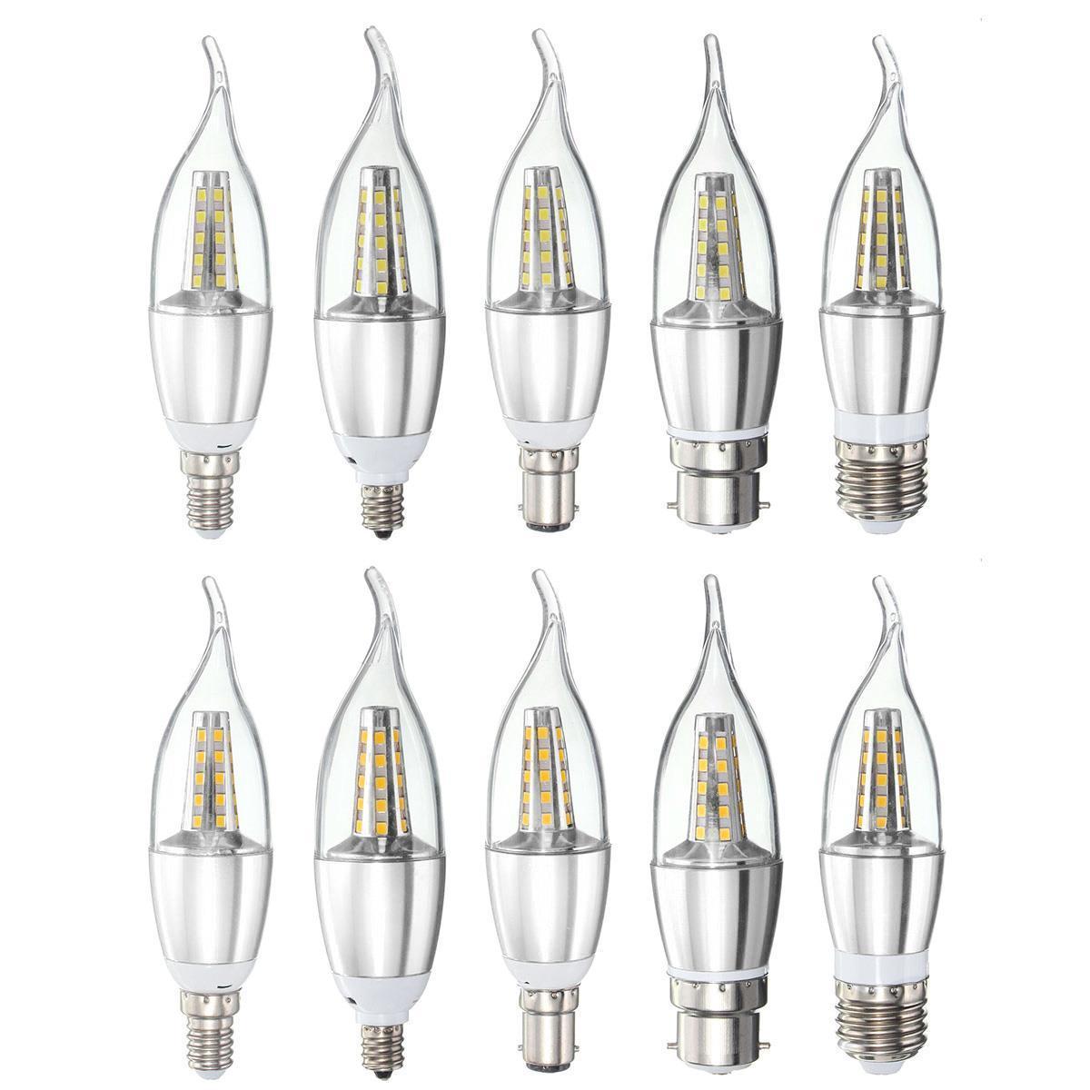 E27 E14 E12 B22 B15 6w 35 Smd Led Warm White White Candle Light Lamp Bulb Ac85 265v Sale