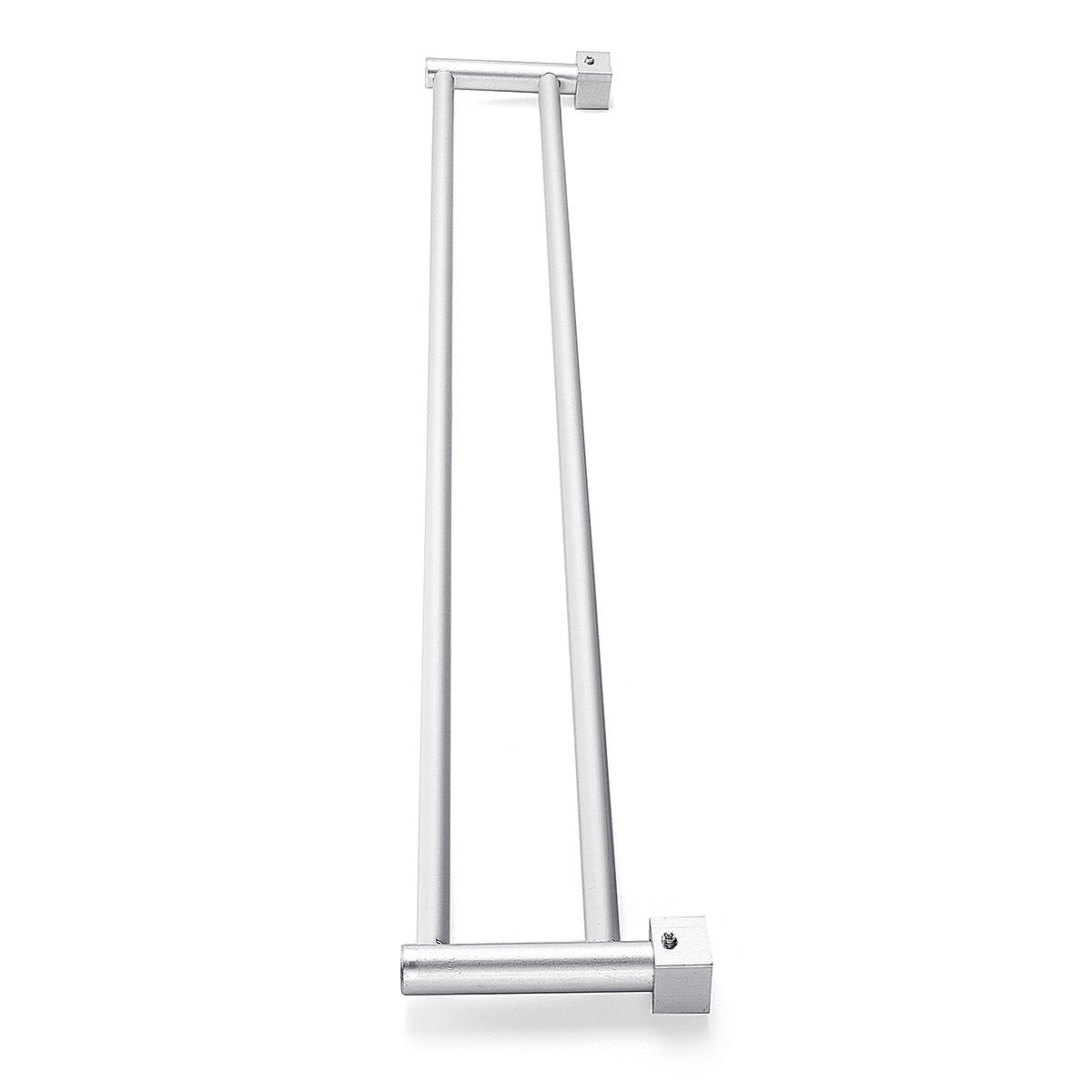Bathroom Double Towel Rail Rack 2 Bar Space Aluminum