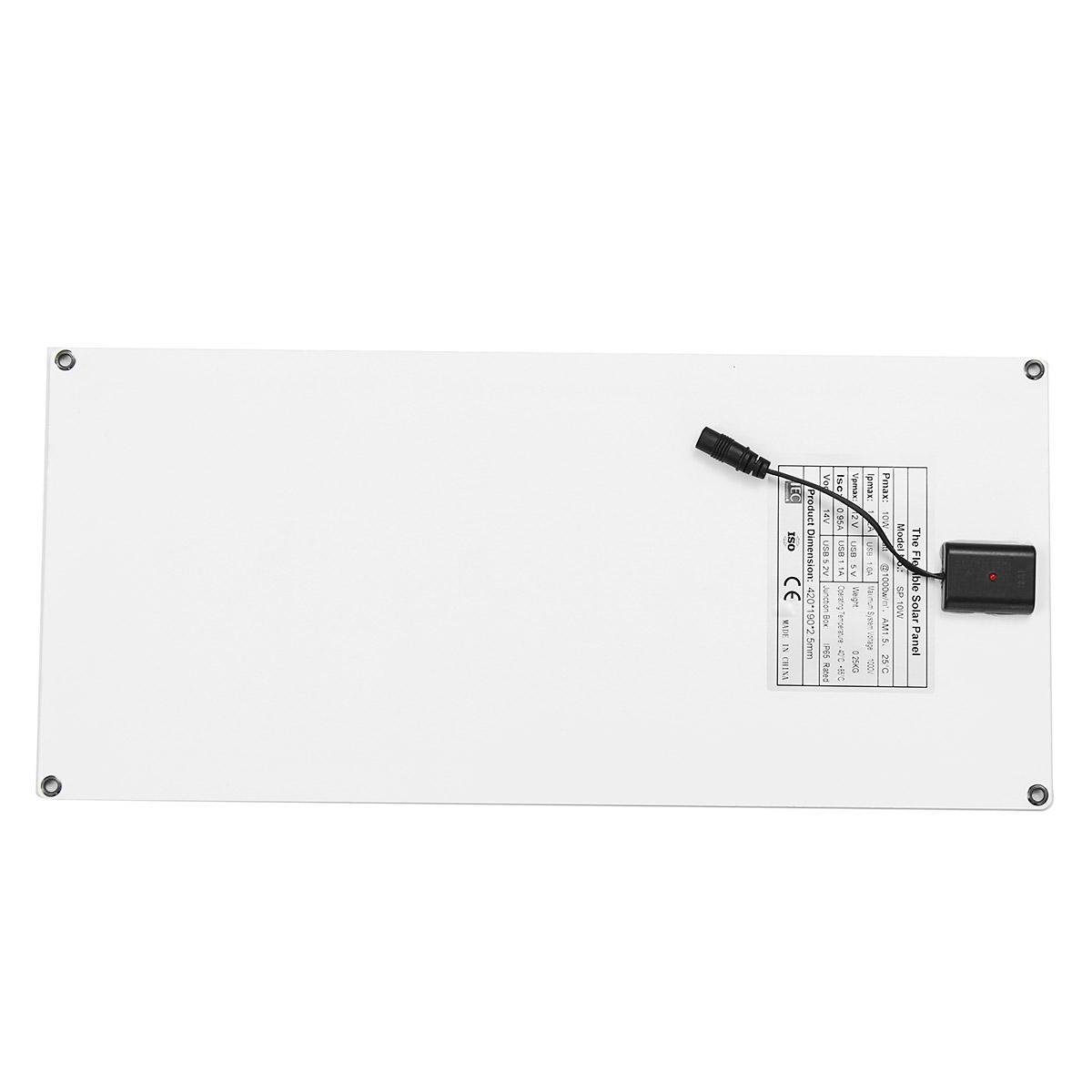 Sp 10w 5v Output 42 19cm Rear Junction Box Solar Panel