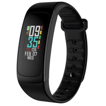 Zeblaze PLUG C Alwayson Color Display Heart Rate Sleep Monitor Multilanguage Stopwatch Smart Watch Black