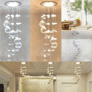 3W LED Crystal Concealed Ceiling Light Small Chandelier Lamp Pendant     3W LED Crystal Concealed Ceiling Light Small Chandelier Lamp Pendant Hallway