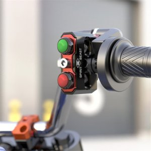 Motorcycle Handle Code Self-locking Double Switch Conversion Handlebar Lighting