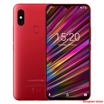 UMIDIGI F1 Global Bands 6.3 Inch FHD+ NFC 5150mAh Android 9.0 4GB RAM 128GB ROM Helio P60 Octa Core 2.0GHz 4G Smartphone