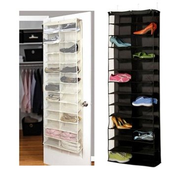 26 Interlayers Door Hanging Shelf Display Stand Holder Shoe Storage Organizer Bag