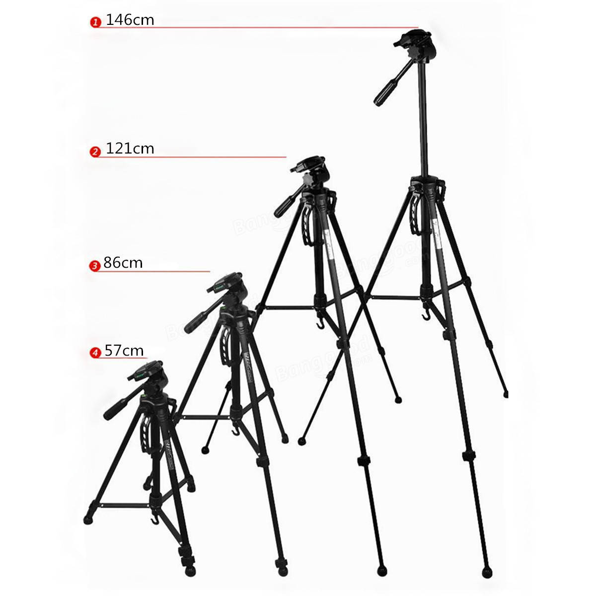 Weifeng Wt Tripod Stand With Carry Case For Digital Camera Dslr Camcorder Sale