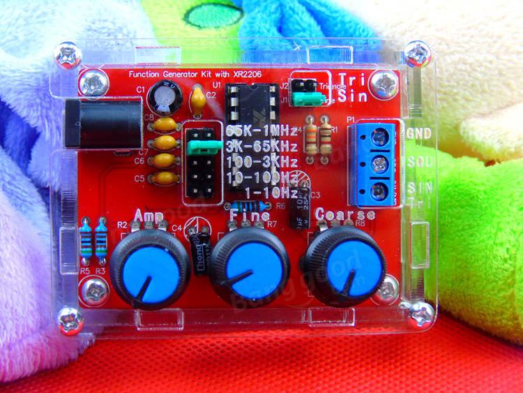 DIY XR2206 Function Signal Generator Kit Sine Triangle