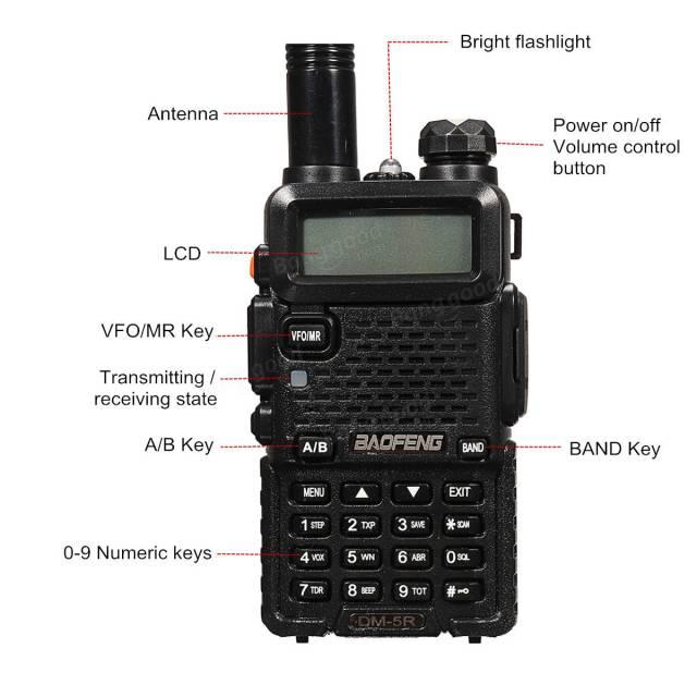 Baofeng DM-5R Dual Band DMR V/UHF Two Way Radio Walkie Talkie Time Slot