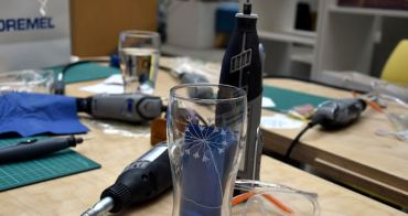 Dremel經典刻磨機在台上市,手作體驗玻璃雕刻延伸生活創意