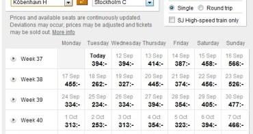北歐 | 瑞典:從哥本哈根出發的瑞典國鐵一般及臥鋪火車訂票流程