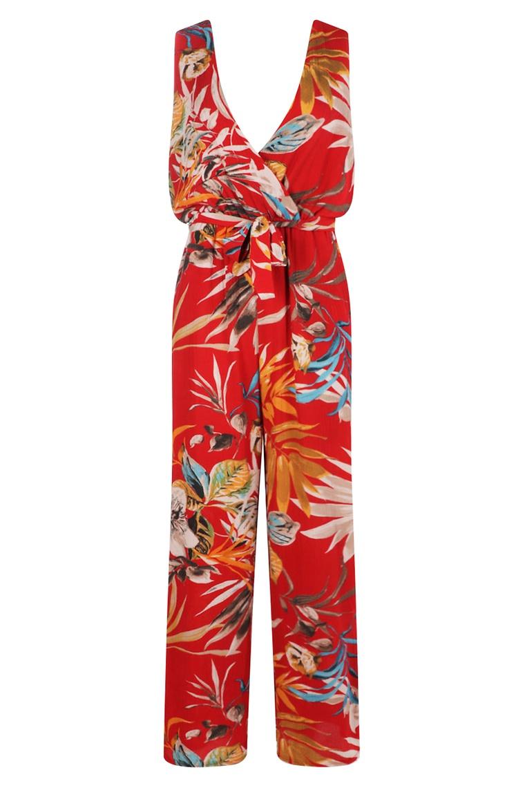 Josephine Palm Print Jumpsuit