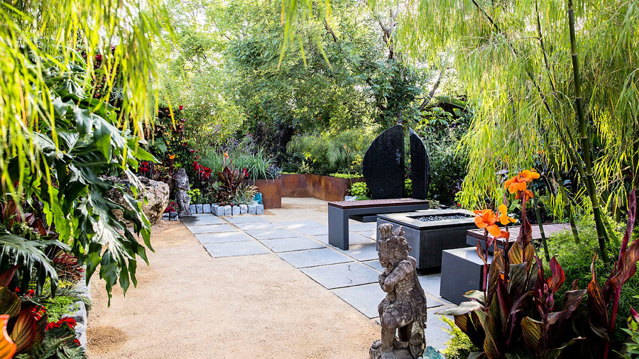 8 Ideas for a Tropical-Themed Garden - Sunset Magazine ... on Tropical Backyard Landscaping  id=25458