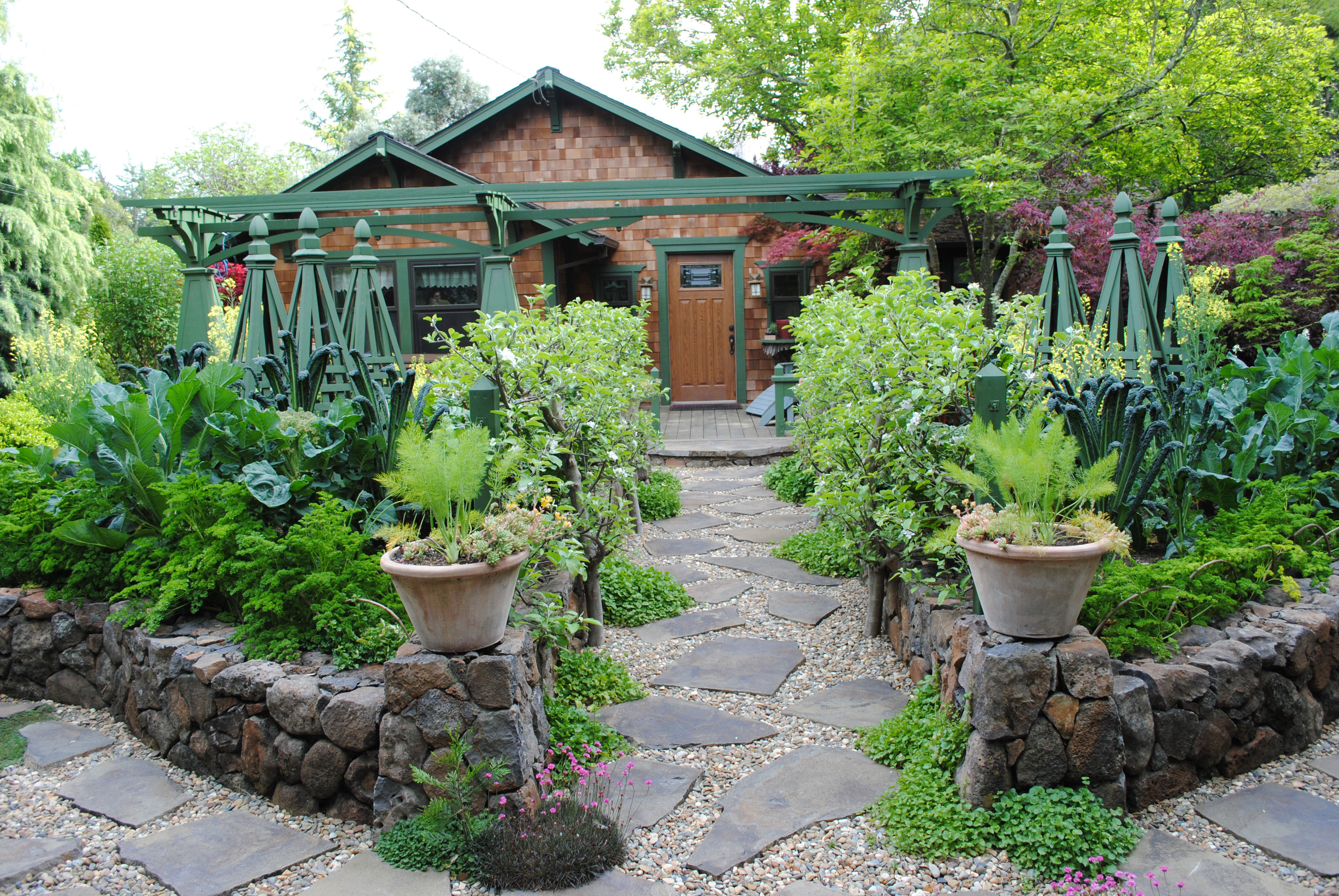 Edible Landscaping Ideas for Front Yard - Sunset - Sunset ... on Front Yard Patio id=66554