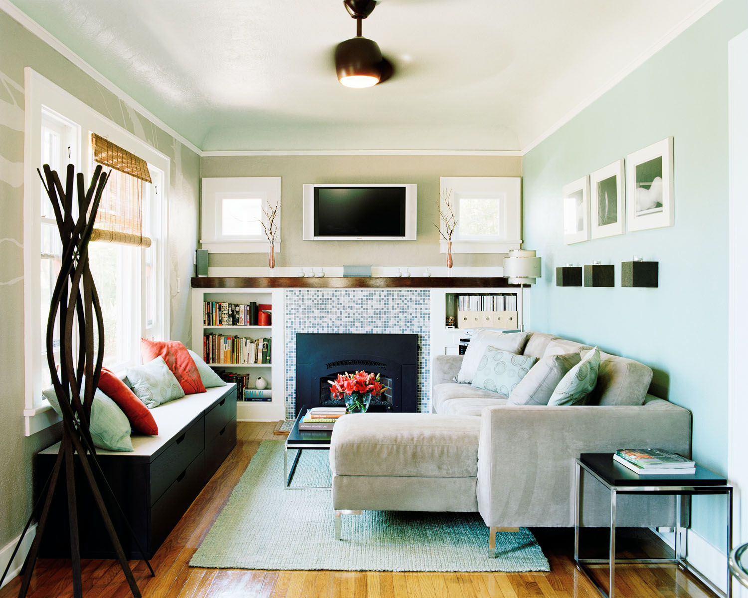 12 Ways to Maximize a Small Living Room - Sunset Magazine on Small Living Room  id=69417