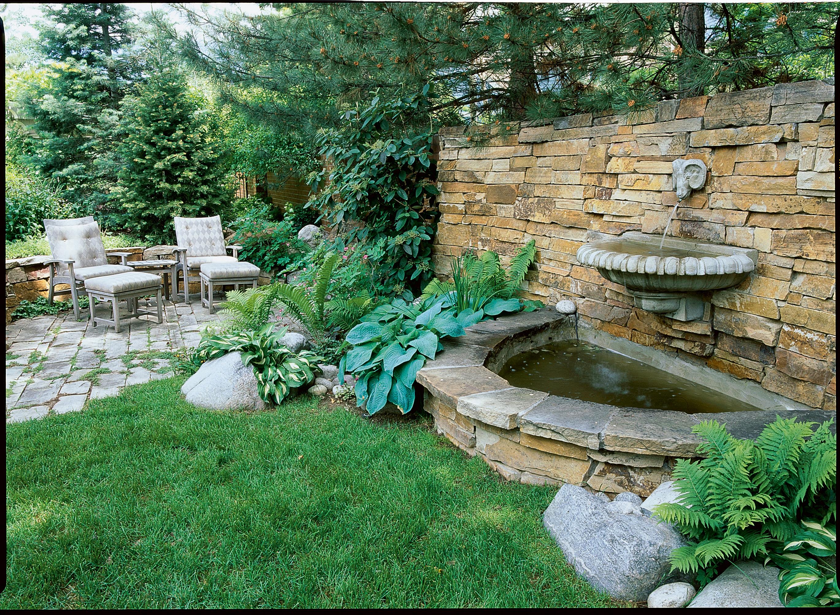 Great Garden Fountain Ideas - Sunset - Sunset Magazine on Backyard Feature Walls  id=38355