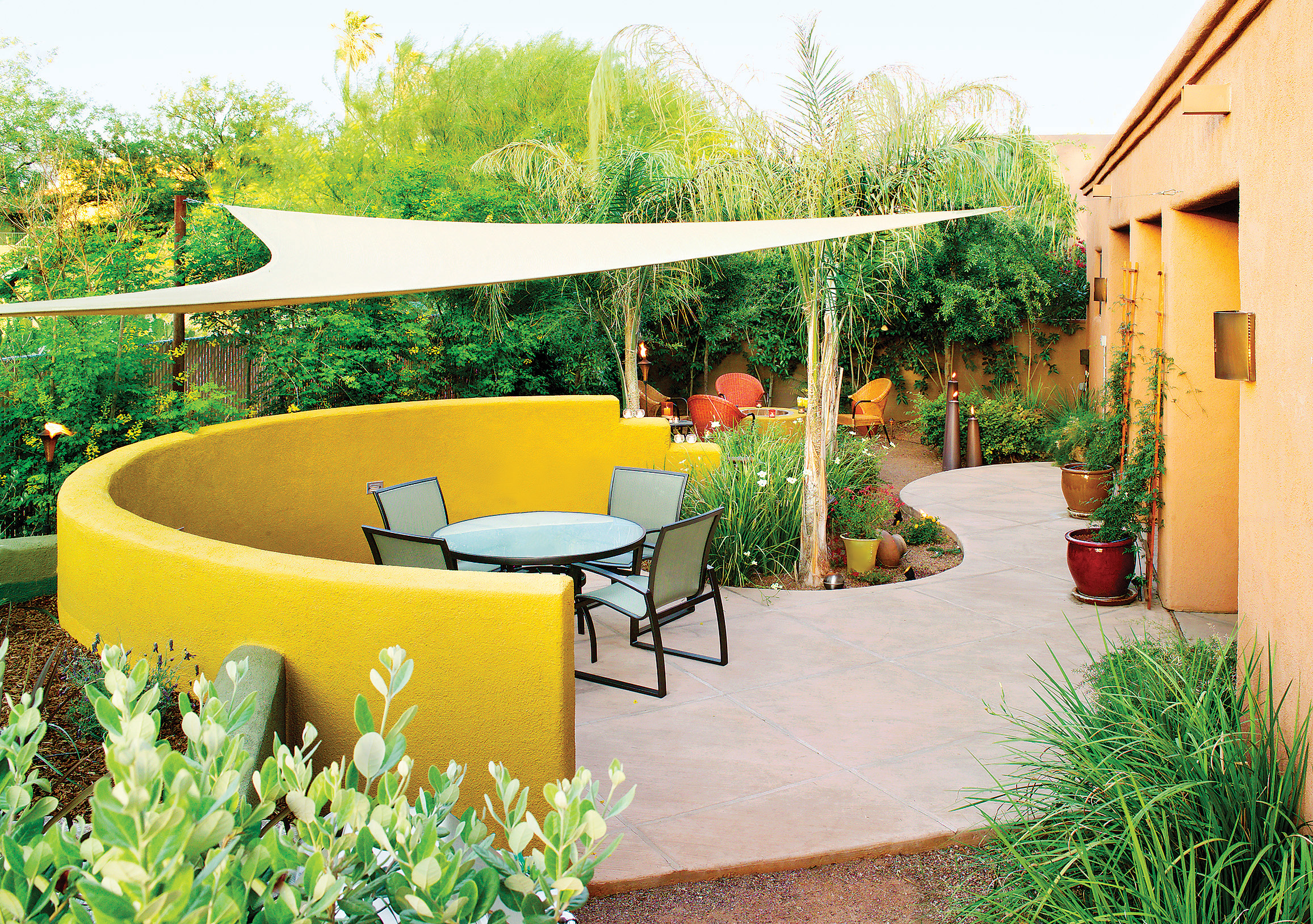 Side-by-side patios invite casual dining and conversation ... on Side Patio Ideas id=68499