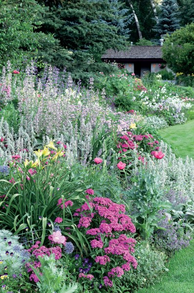 flower garden landscaping See how to use foliage and flowers to soften a wall