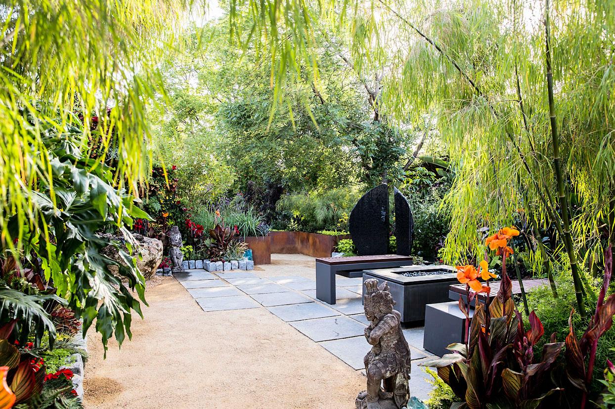 Ideas for a Tropical Garden - Sunset Magazine on Tropical Backyard Ideas  id=79322