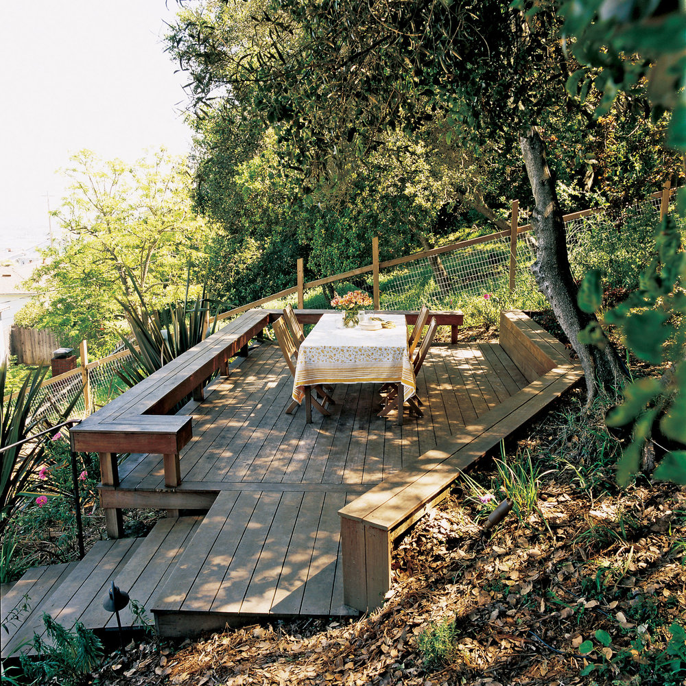 Three ways to conquer a steep backyard - Sunset Magazine on Uphill Backyard Ideas  id=52770