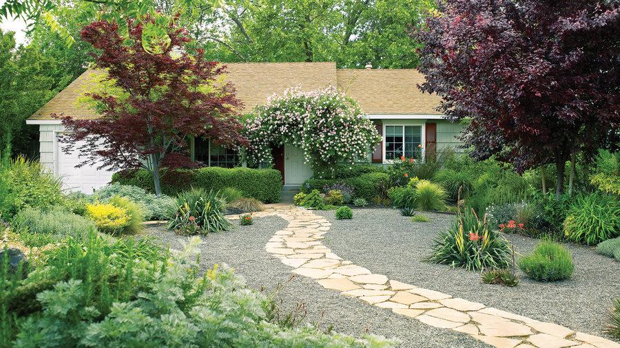 7 Inspiring Lawn-Free Yards - Sunset Magazine - Sunset ... on Small Garden Ideas No Grass  id=47586