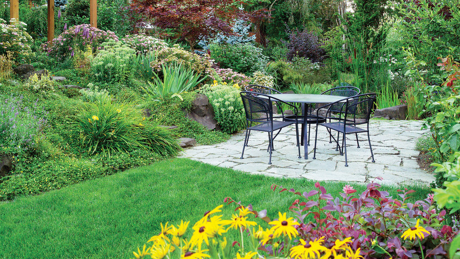 4 Solutions for a Sloped Yard - Sunset Magazine - Sunset ... on Backyard With Slope Ideas  id=18310