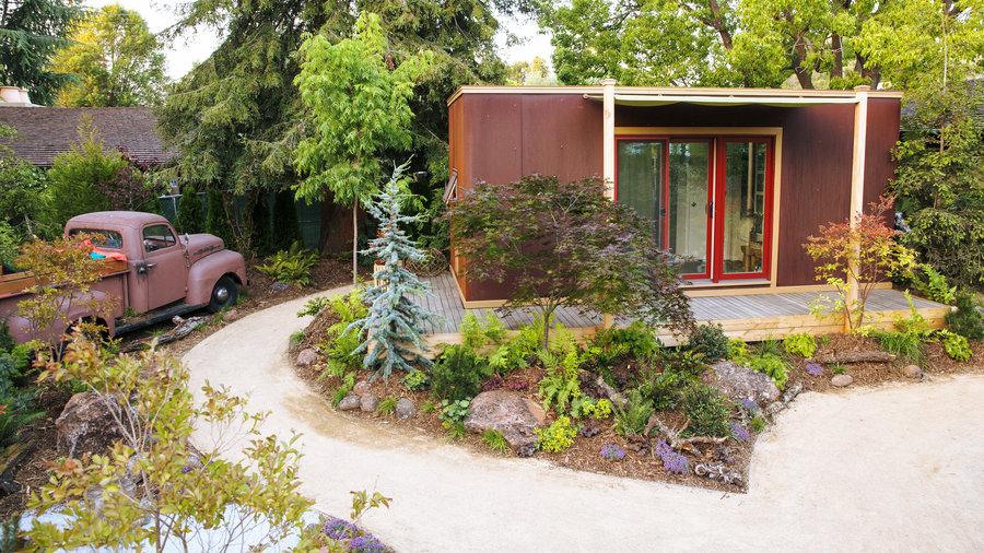 Create Your Own Tiny House's Woodland Retreat - Sunset ... on Backyard Retreat Ideas id=60834