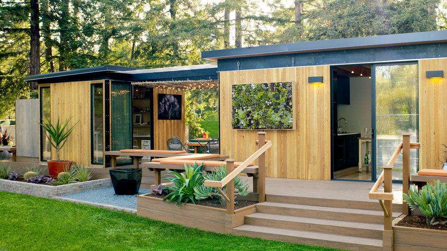 Readymade Backyard Cottage - Sunset Magazine - Sunset Magazine on Bungalow Backyard Ideas id=31771
