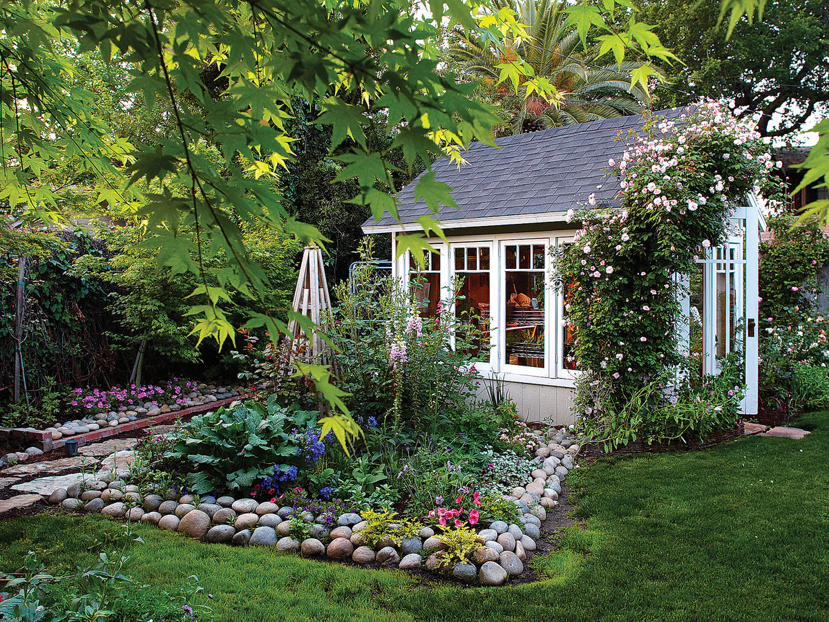 Garden Cottage Greenhouse - Sunset Magazine on Bungalow Backyard Ideas id=20583