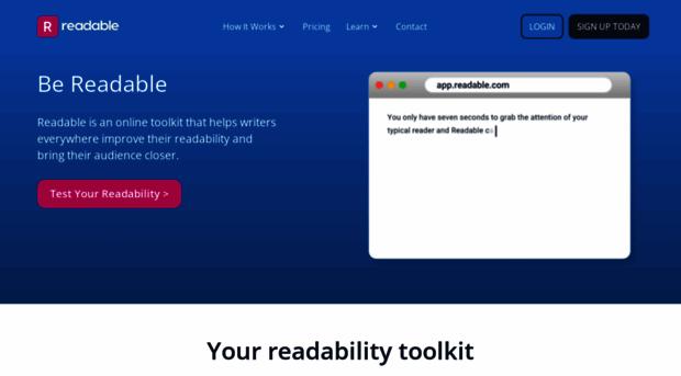 Image result for https://readability-score.com/