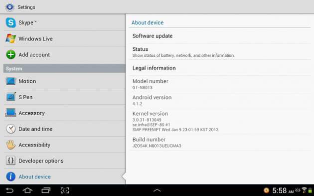 US Samsung Galaxy Note 101 Finally Gets Android 412 Update