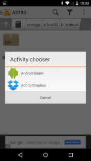 Astro_File_Manager_Android_Beam_Option_Screenshot