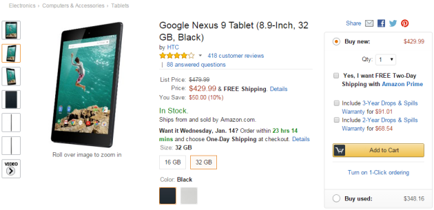 Nexus-9-sale-amazon