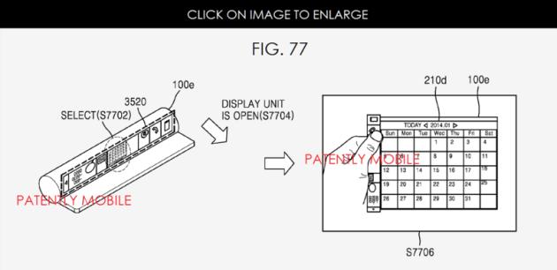 samsung tabbed smartphone patent