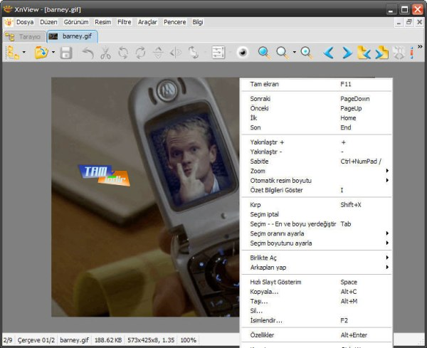 XnView ndir 220cretsiz Resim G246sterici D252zenleyici ve