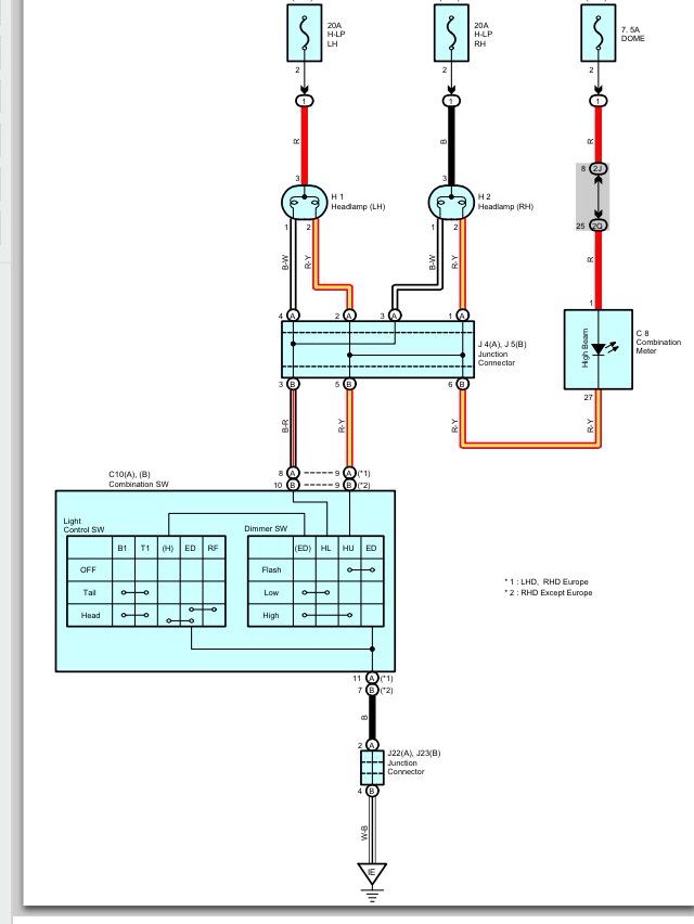 hilux headlight wiring diagram harley davidson vacuum