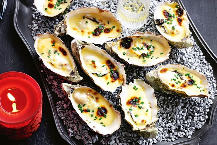 Champagne oysters