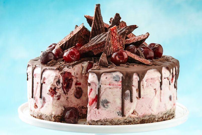 Image result for cherry ripe ice cream cake