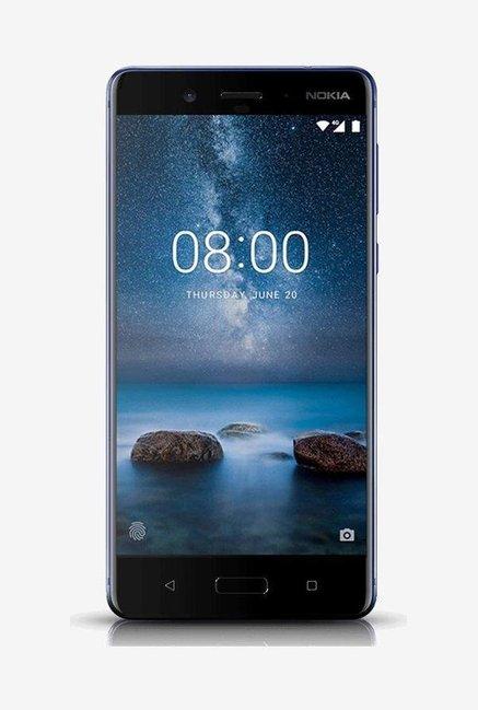 Nokia 8 64GB (Polished Blue) 4 GB RAM, Dual SIM 4G