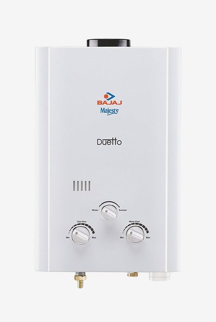 Bajaj Majesty Duetto 6L PNG Gas Water Heater (White)