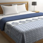 Portico New York Shalimaar 100 Cotton Blue White Comforter Set Of 1 From Portico New York At Best Prices On Tata Cliq