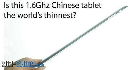 Rockchip el tablet más delgado del mundo