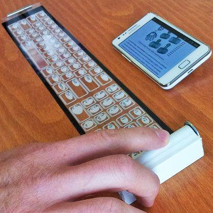 Qii, un genial teclado móvil que puede ser enrollado
