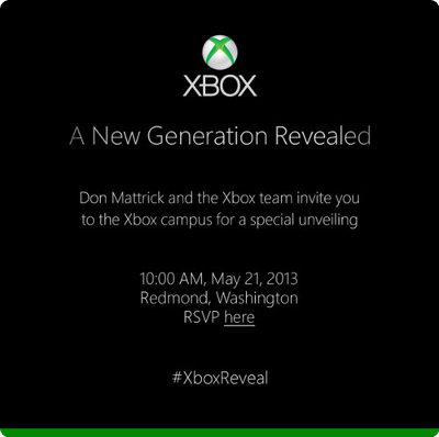 La nueva Xbox será presentada el 21 de mayo