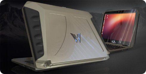 Sol, laptop Ubuntu de alta resistencia y que usa energía solar