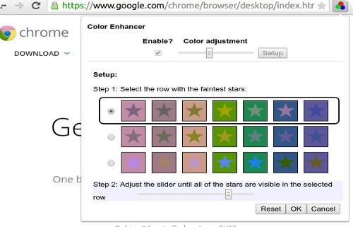 Chrome ahora incorpora una extensión para daltónicos